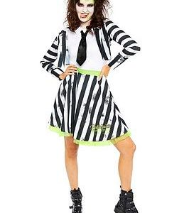 Beetlejuice Ladies Costume, One Colour, Size 16-18, Women