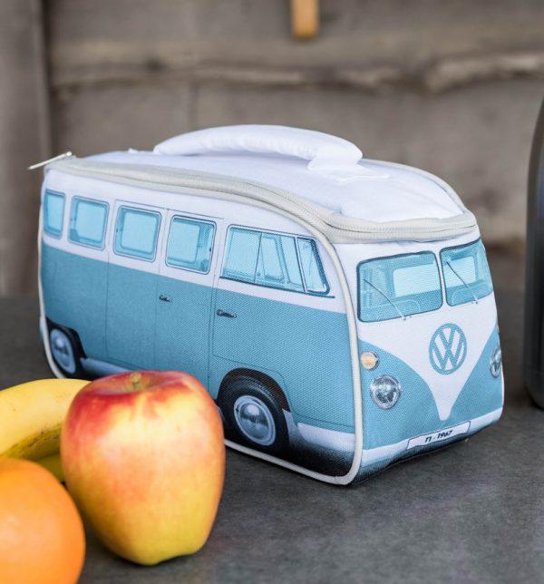 Blue VW Camper Van Lunch Bag
