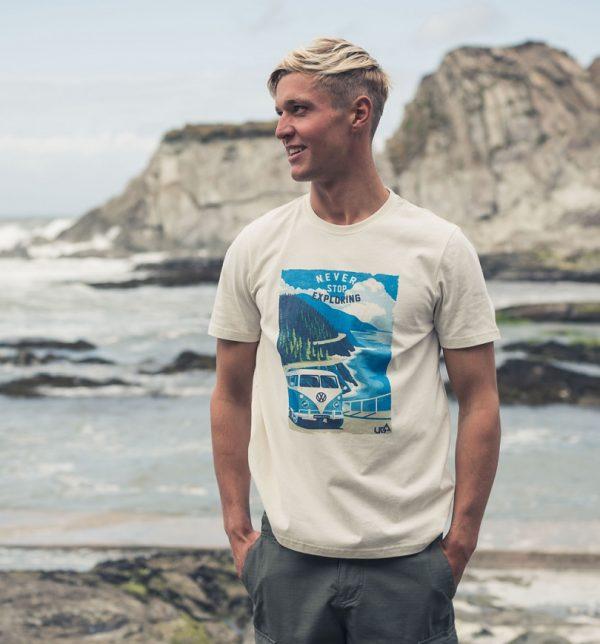 Men's Cream VW Camper Van T-Shirt