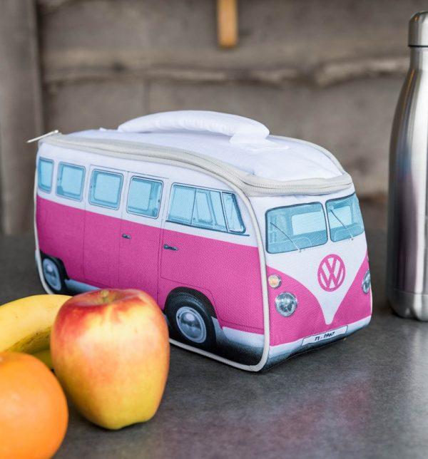 Pink VW Camper Van Lunch Bag