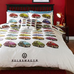 Volkswagen Beetles Single Duvet Cover And Pillowcase Set