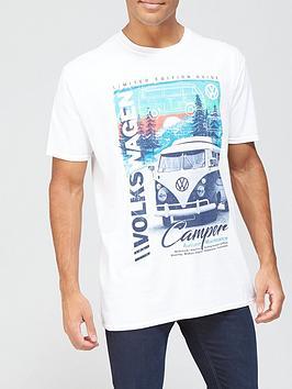 Volkswagen Campervan T-shirt - White, White, Size M, Men