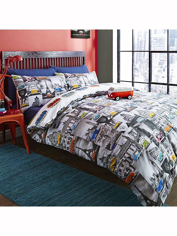 Volkswagen City Single Duvet Cover and Pillowcase Set