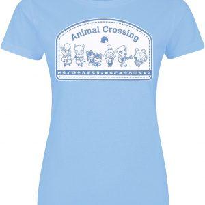 Animal Crossing Badge T-Shirt Blue