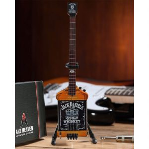 Axe Heaven Van Halen Michael Anthony Jack Daniel's Miniature Bass Guitar Replica