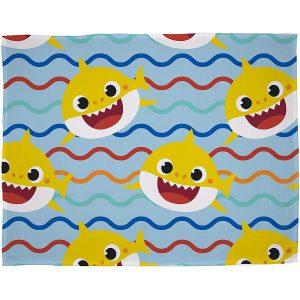 Baby Shark Rainbow Fleece Blanket