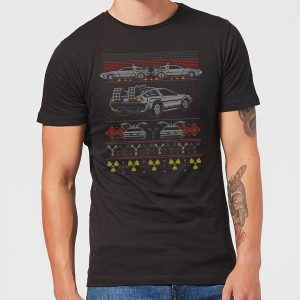 Back To The Future Back In Time For Christmas Men's T-Shirt – Black – XS