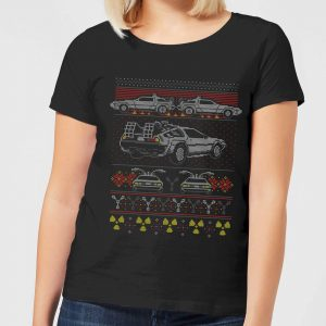 Back To The Future Back In Time For Christmas Women's T-Shirt – Black – S – Black