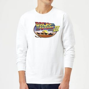 Back To The Future Lasso Sweatshirt – White – S – White