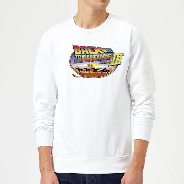Back To The Future Lasso Sweatshirt - White - S - White