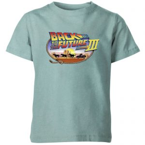 Back To The Future Logo Kids' T-Shirt – Mint Acid Wash – 3-4 Years – Mint Acid Wash