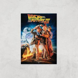 Back To The Future Part 3 Giclee Art Print – A4 – Print Only