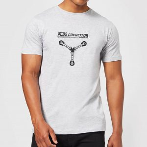 Back To The Future Powered By Flux Capacitor T-Shirt – Grey – XS – Grey