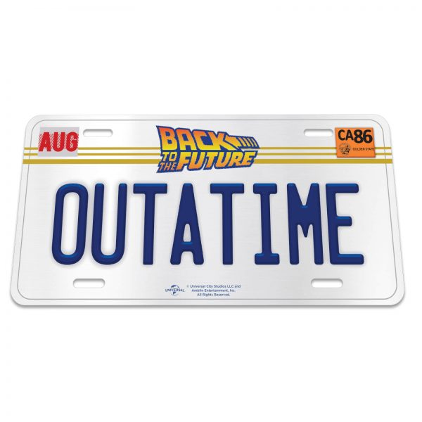 Back to the Future OUTATIME Licensed Plate