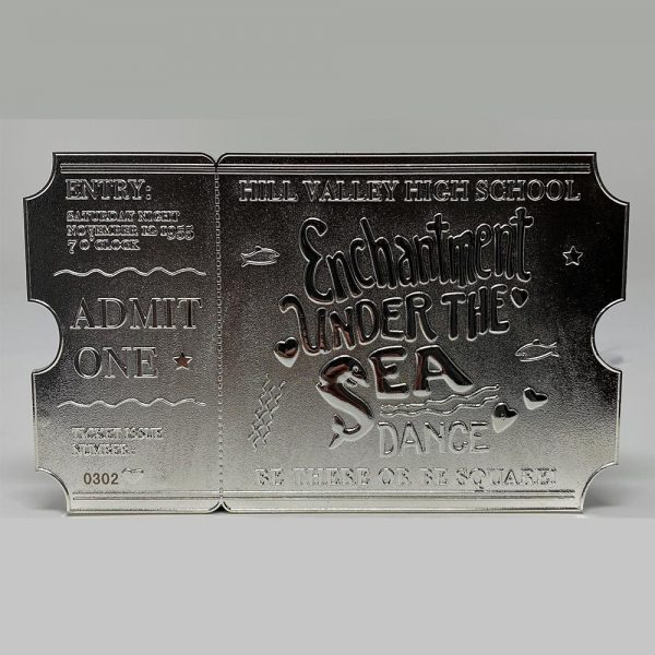 Back to the Future Silver Plated Ticket - Just 5000 Worldwide