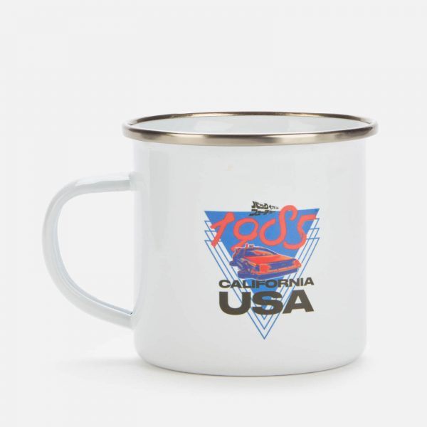 Back to the future Enamel Mug - White