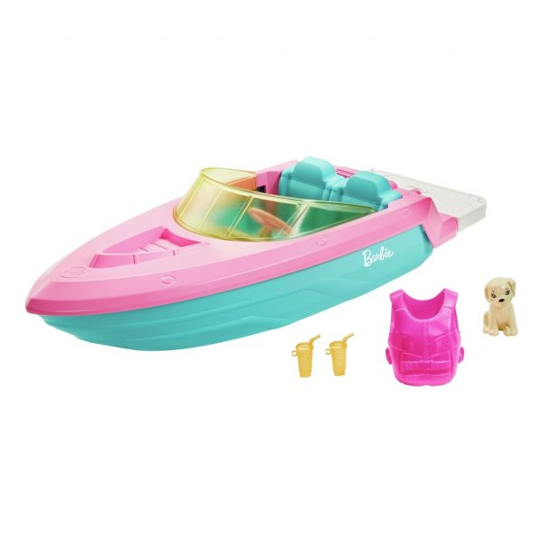 Barbie Boat with Puppy Figure
