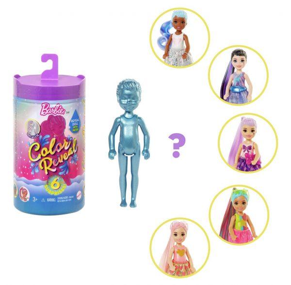Barbie Colour Reveal Chelsea Shimmer & Shine Doll Assortment