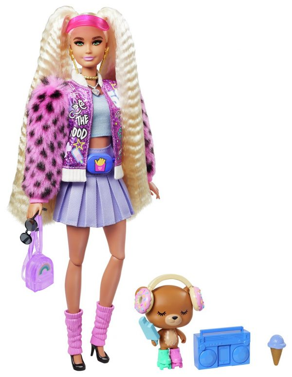 Barbie Extra Doll with Blonde Pigtails and Pet Teddy