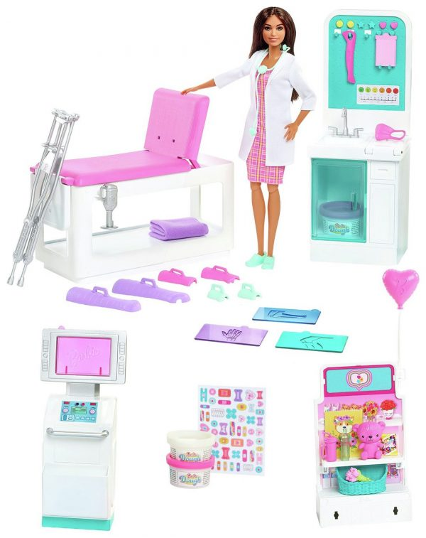 Barbie Fast Cast Clinic Playset with Barbie Doctor Doll