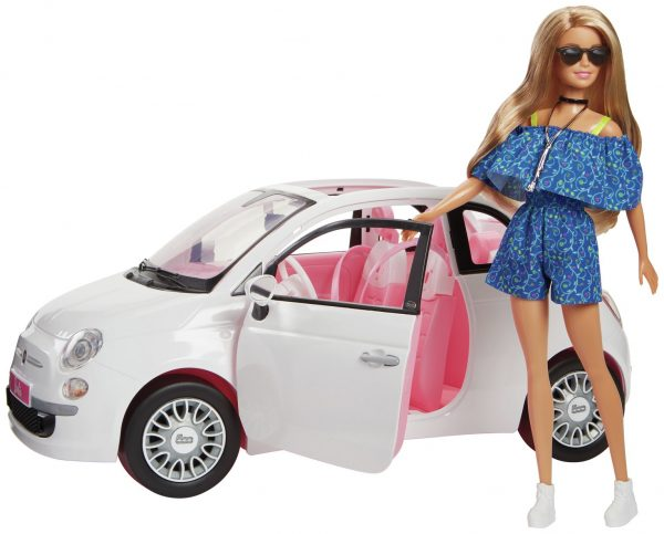 Barbie Fiat Car and Doll Playset