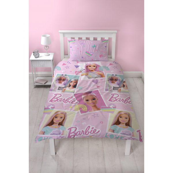 Barbie Lovestruck Single Reversible Duvet Set
