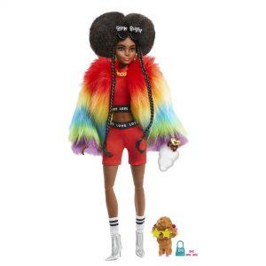 Barbie Xtra Rainbow Coat Doll 1