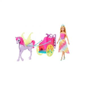 Barbie With Fantasy Horse And Chariot