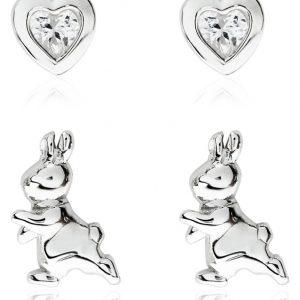 Beatrix Potter Peter Rabbit Sterling Silver Studs – Set Of 2