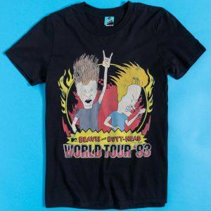 Beavis And Butt-Head World Tour '93 Black T-Shirt