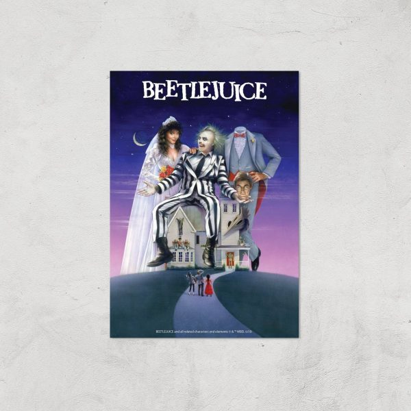 Beetlejuice Giclee Art Print - A4 - Print Only