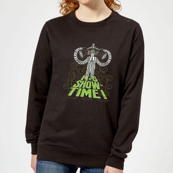 Beetlejuice It's Show-Time Women's Sweatshirt - Black - 5XL - Black