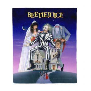 Beetlejuice Poster Fleece Blanket – S