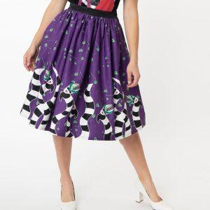 Beetlejuice Sandworm Gellar Skirt From Unique Vintage