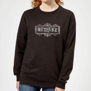 Beetlejuice White Logo Women's Sweatshirt – Black – 5XL – Black