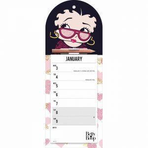 Betty Boop Magnetic Slim Calendar 2022