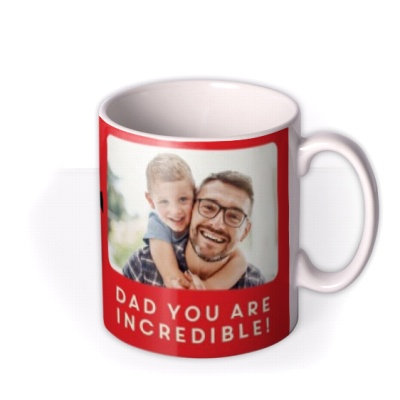 Birthday Mug by Moonpig - Dad The Incredibles 2 Disney Pixar Photo Upload Gift Set By Delivery Available