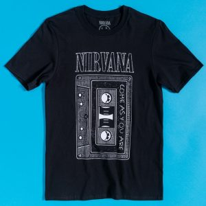 Black Nirvana Come As You Are Cassette T-Shirt