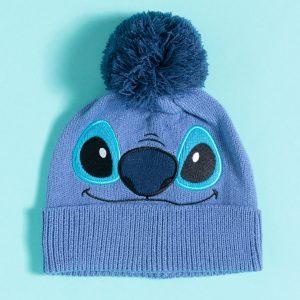 Blue Lilo & Stitch Knitted Stitch Disney Bobble Hat