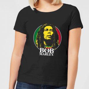 Bob Marley Face Logo Women's T-Shirt – Black – S