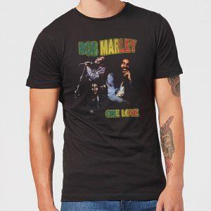 Bob Marley One Love Men's T-Shirt – Black – XS – Black