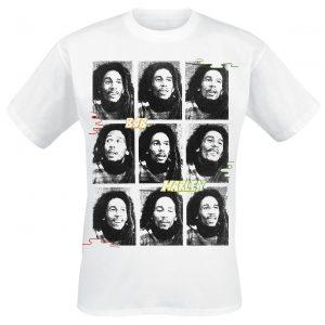 Bob Marley Photo Collage T-Shirt White