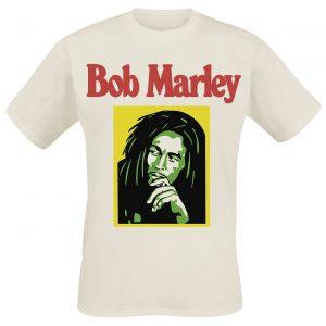 Bob Marley Rasta Coloured T-Shirt Natural