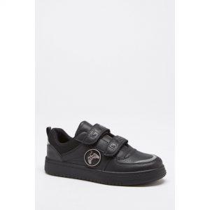 Boys Black Gamer School Shoes