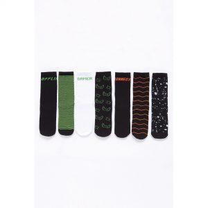 Boys Pack Of 7 Gamer Socks