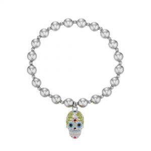 Buckley London Sugar Skull Beaded Mexican Charm Bracelet