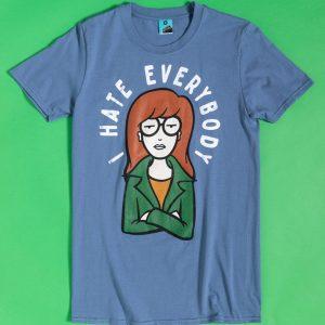 Daria I Hate Everybody Indigo Blue T-Shirt