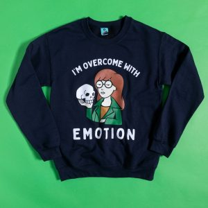 Daria I'm Overcome With Emotion Navy Sweater