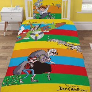 David Walliams Stripe Single Duvet Cover And Pillowcase Set