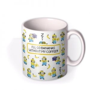 Despicable Me Minions Bananas Without My Coffee Mug By Moonpig, Gift Set – Delivery Available